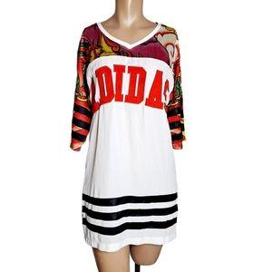 Adidas Rita Ora dragon dress print size XS